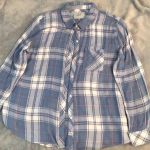 Rails Thin Flannel (Blues, White, and Pink)